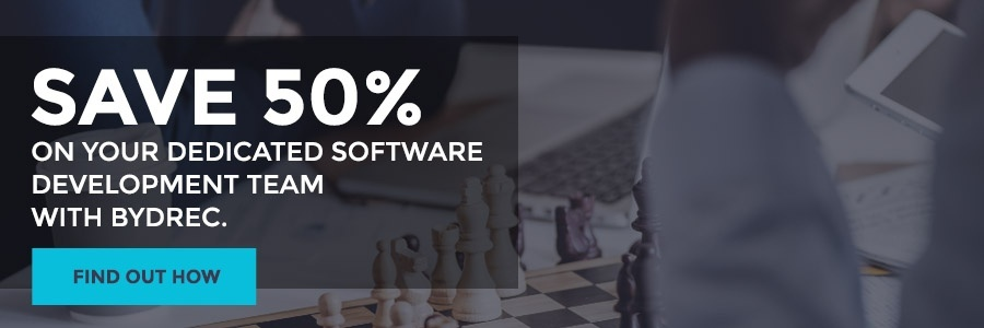 save 50 percent on your dedicated software development team with Bydrec